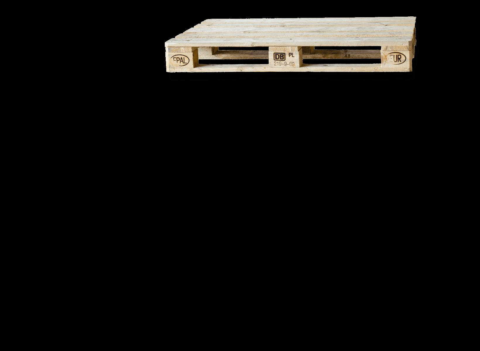 Europalette als Holz quer. Als Illustration unserer Logistik Kompetenzen