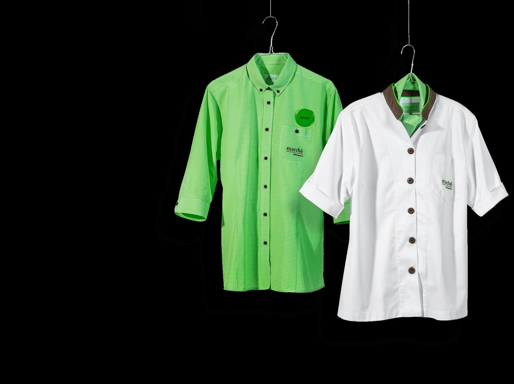 Marche Berufsbekleidung in grün und weiß