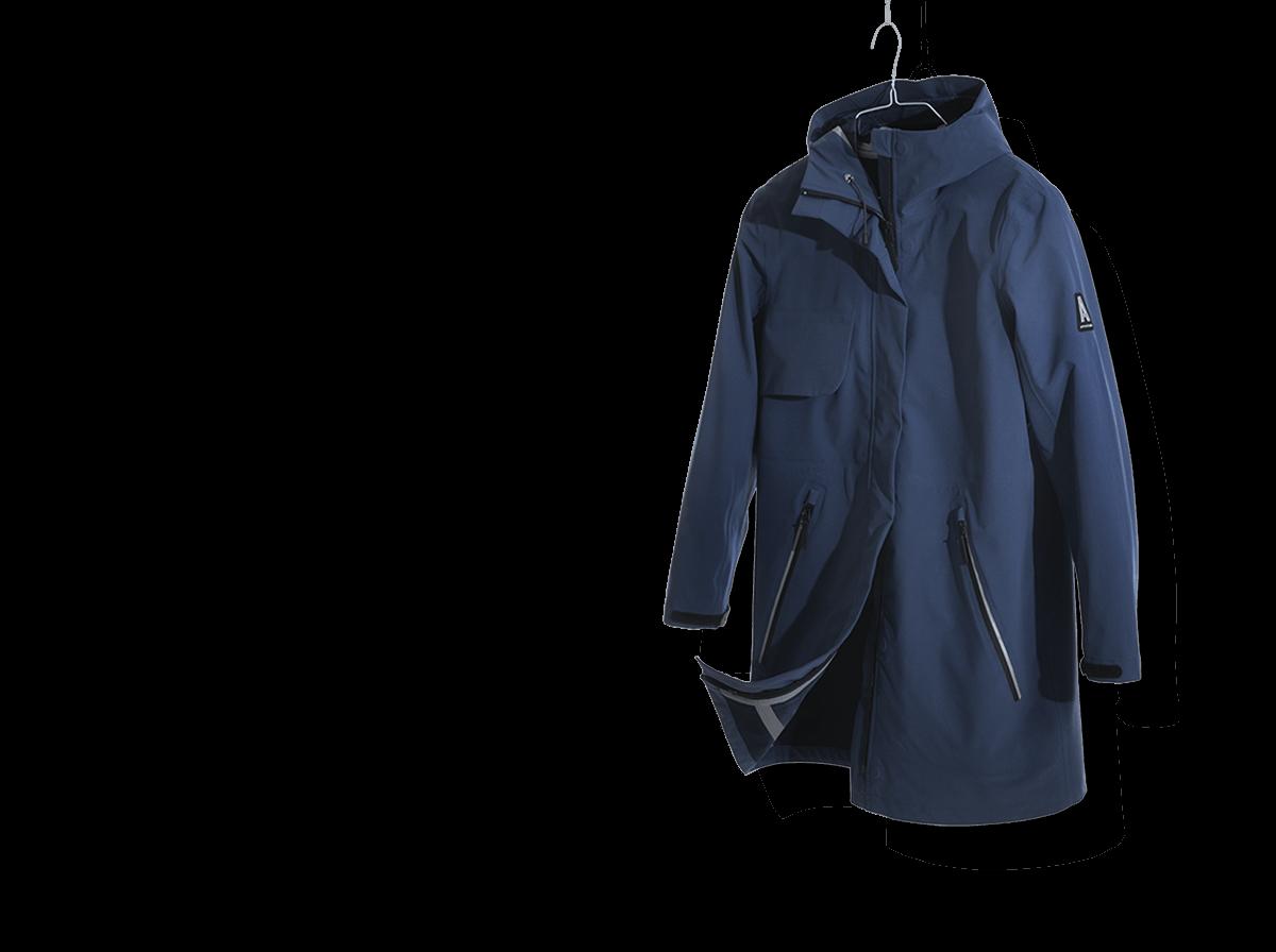 Blaue Jacke als Beispiel für Imagekleidung