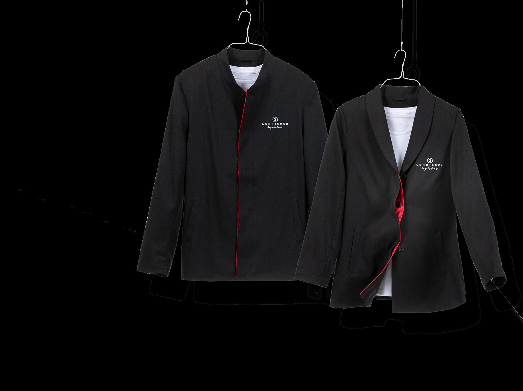 Lehrieder Servicebekleidung in schwarz als Sakko und Blazer