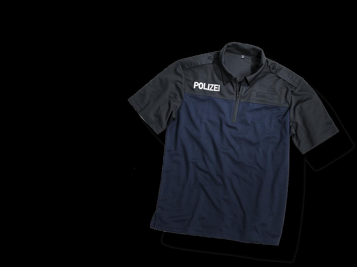 Uniform für die Polizei mit Aufdruck