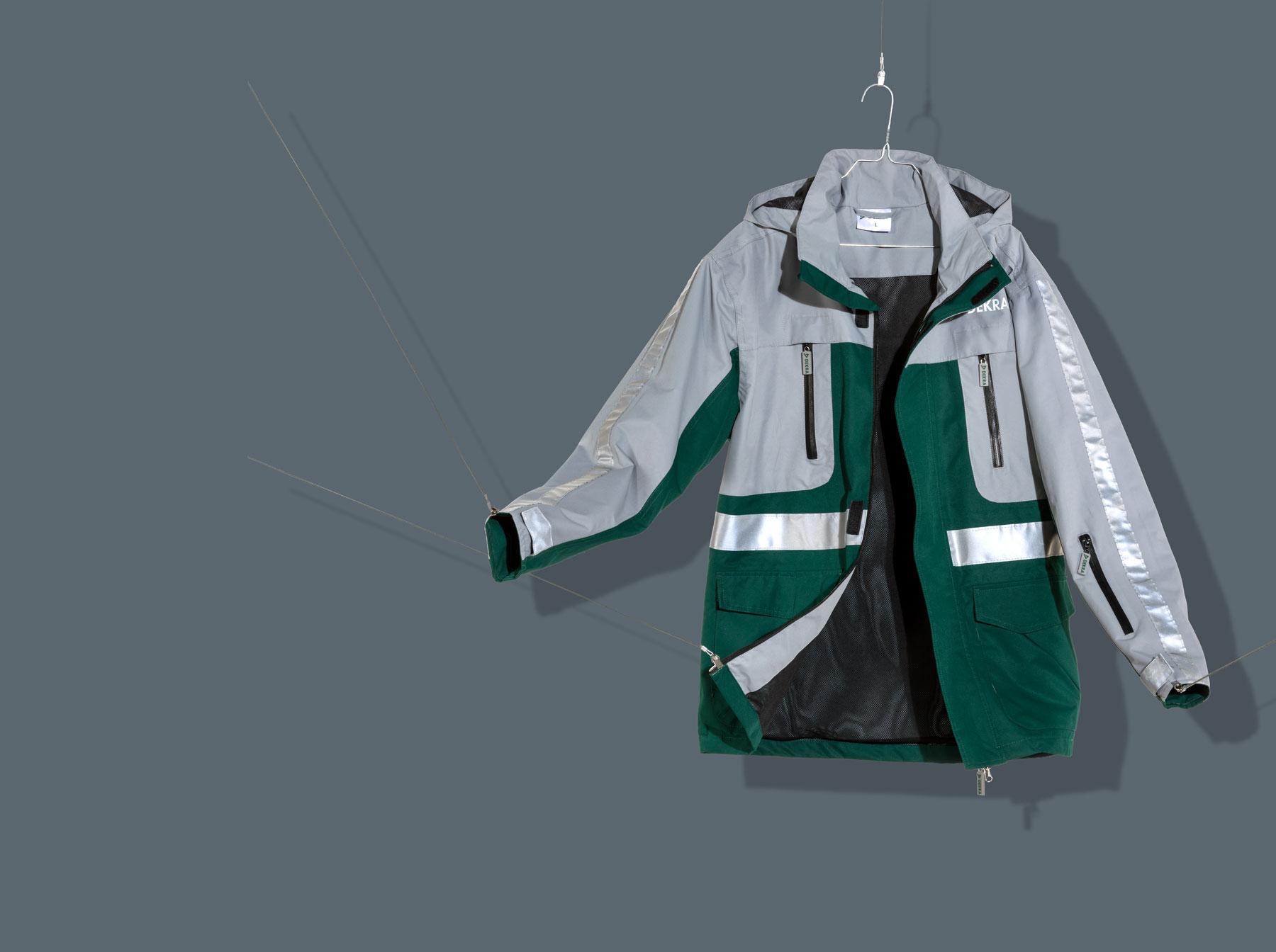 Dekra Workwear Jacke für die Arbeit in grün und grau