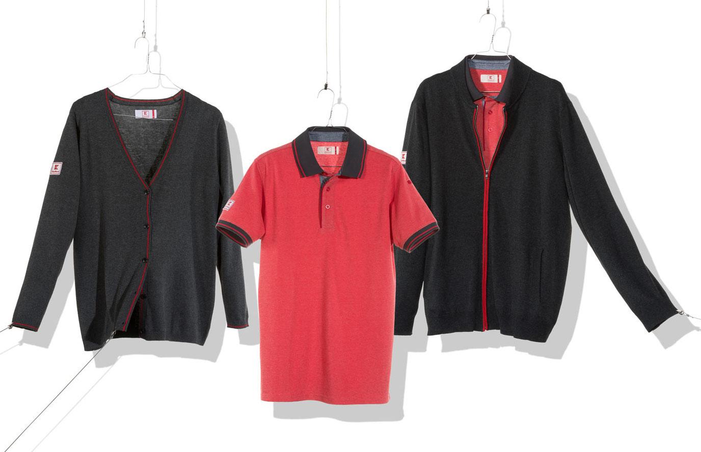 Kaufland Polo, Strick und Jacke mit Logos